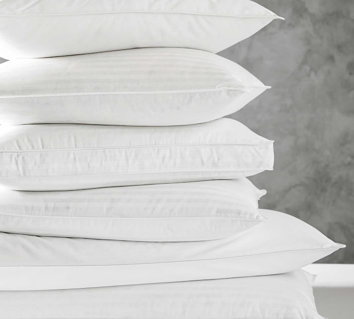 pottery barn classic feather pillows
