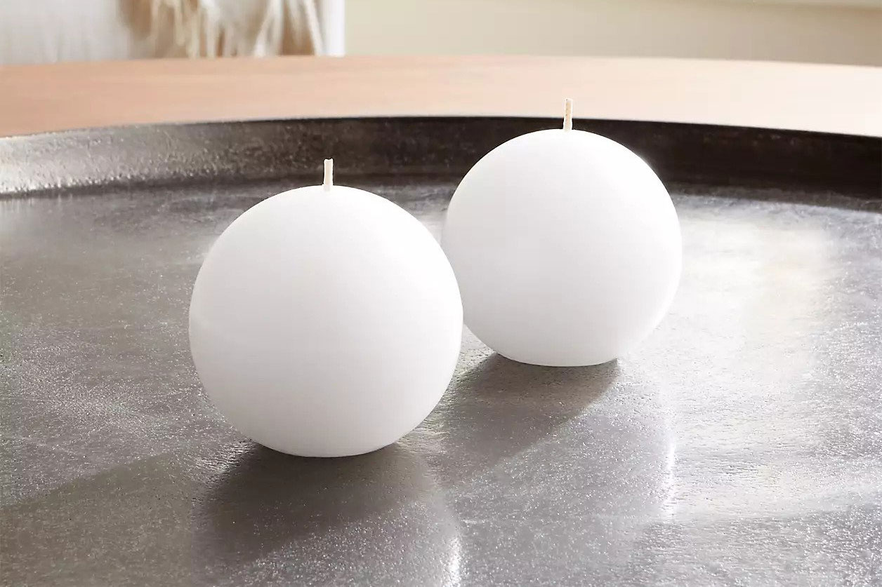 White Ball Candles