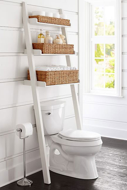 Pottery Barn Ainsley Over-the-Toilet Storage Ladder