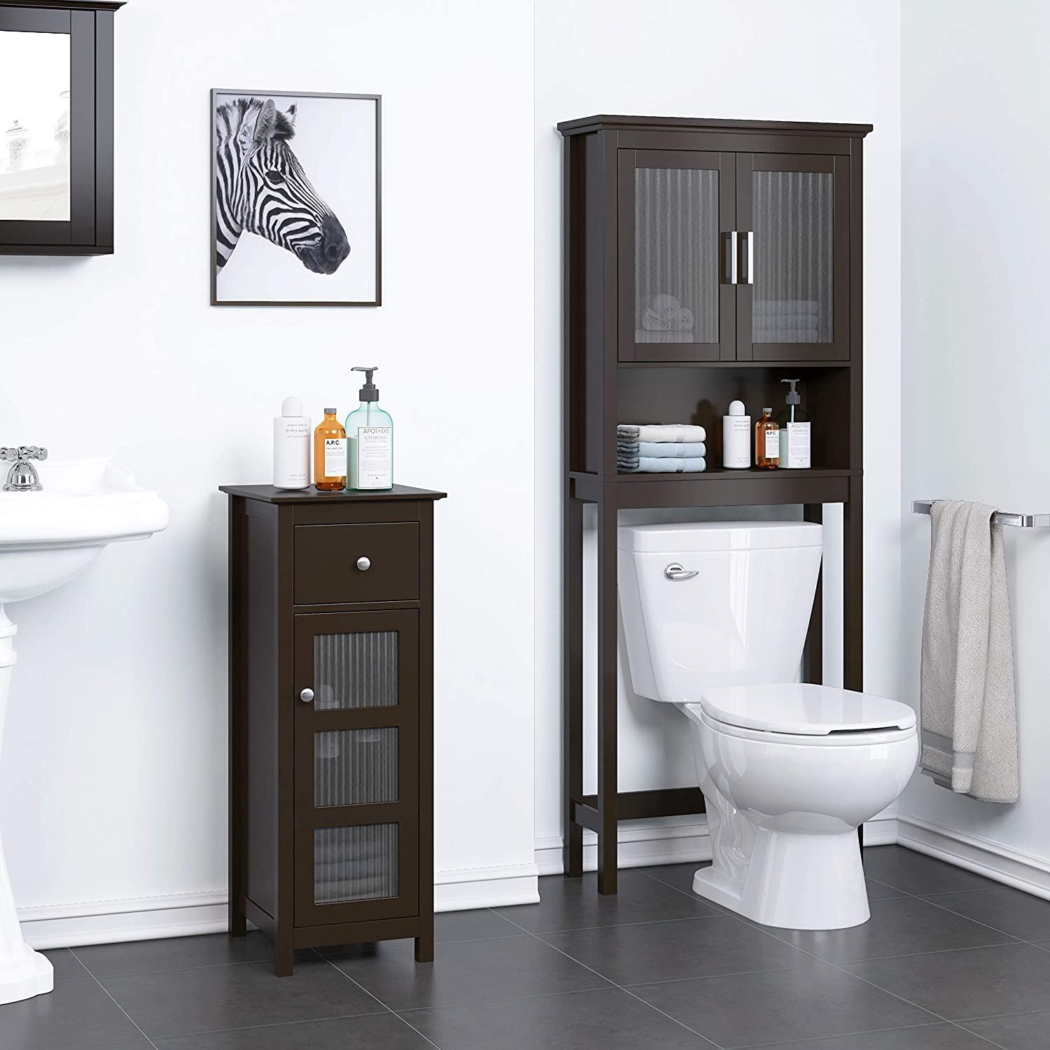 Siprich Home Bathroom Over-the-Toilet Bathroom Cabinet Organizer