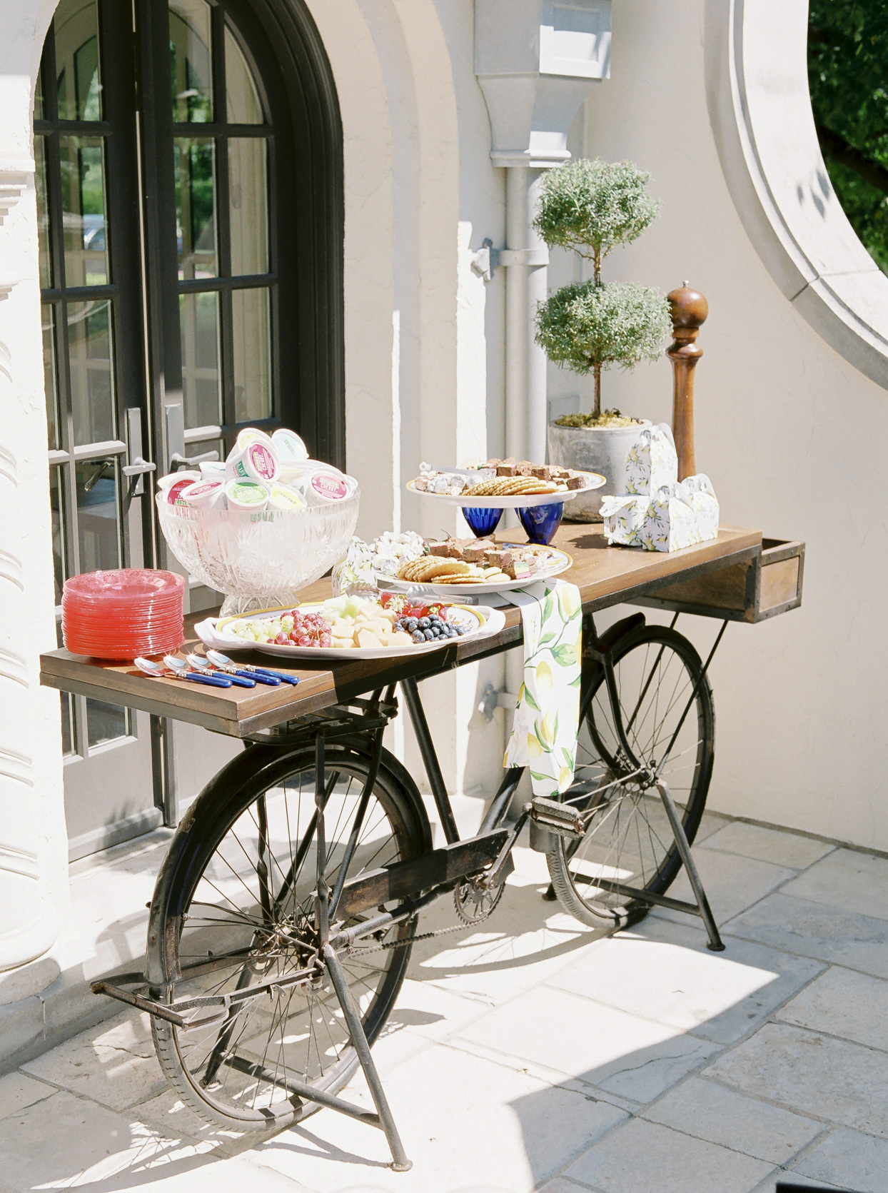 brunch table with food