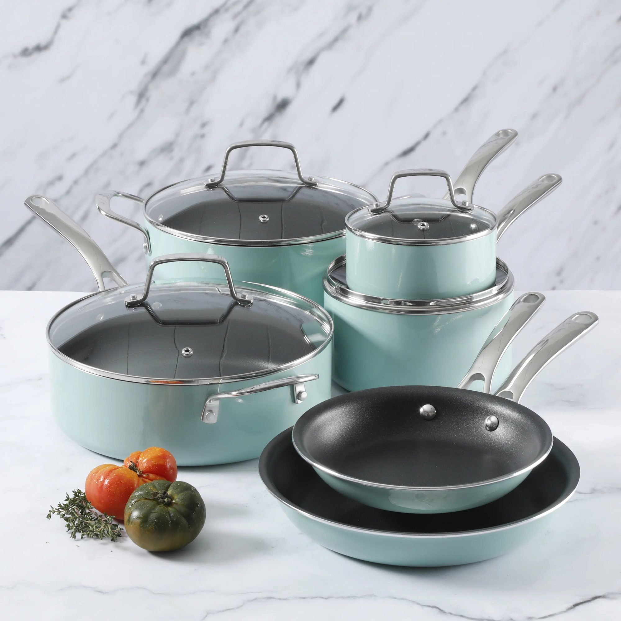 Martha Stewart 10-Piece Aluminum Non Stick Cookware Set