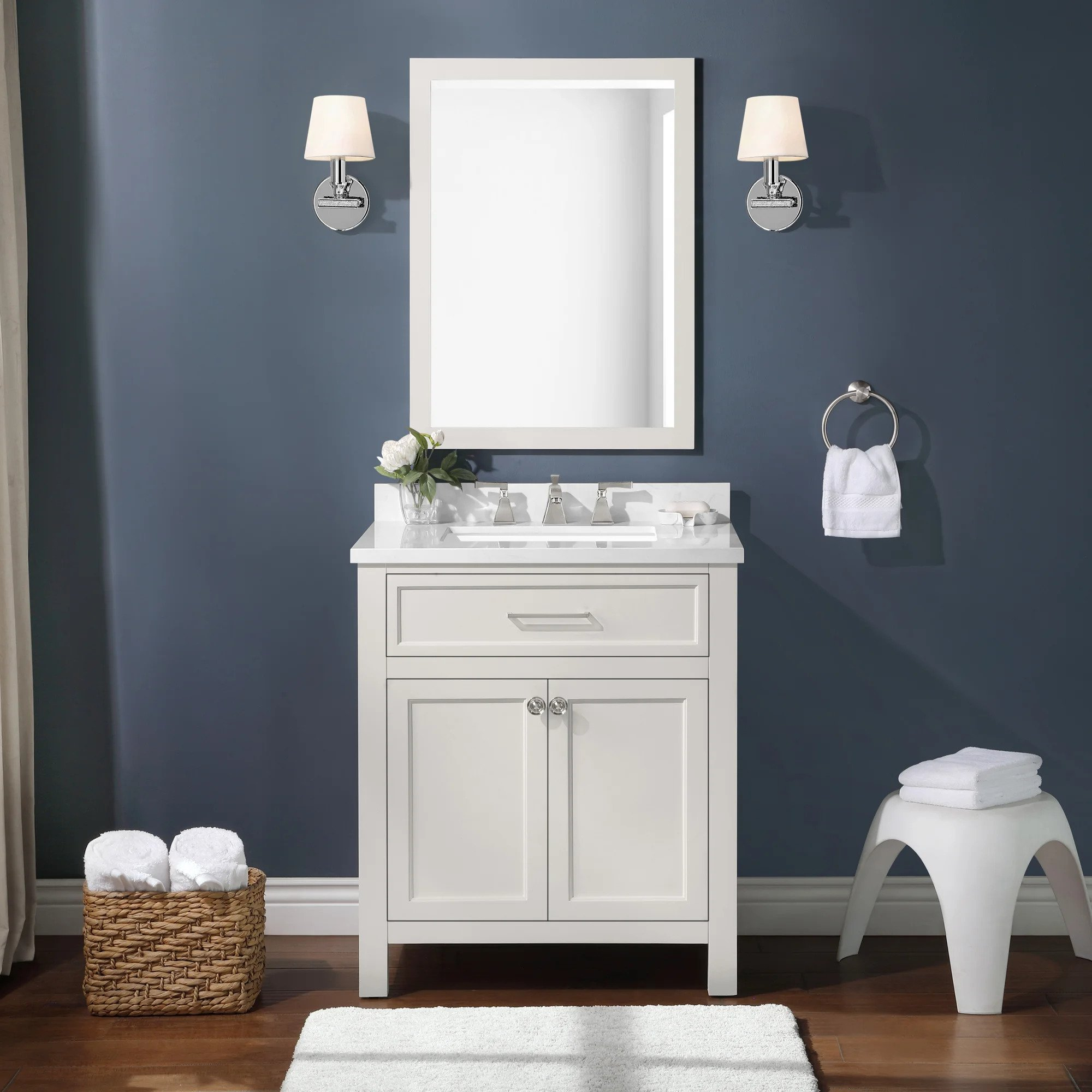 Martha Stewart Bedford Oakland 30 inch Single Bathroom Vanity Set
