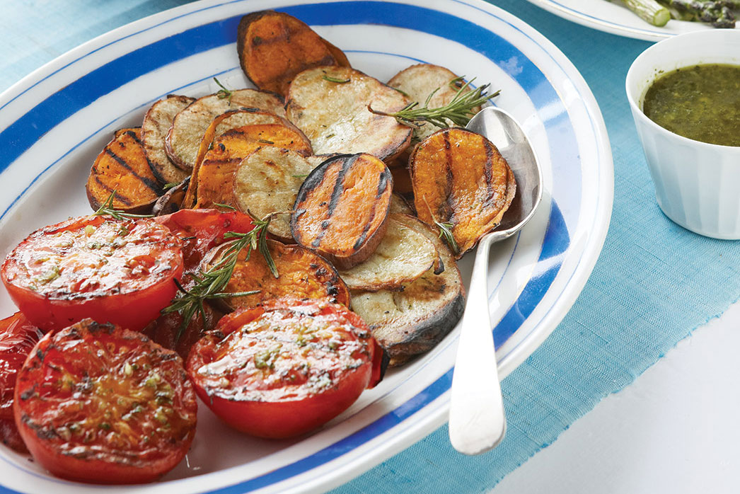 Grilled Potatoes with Rosemary