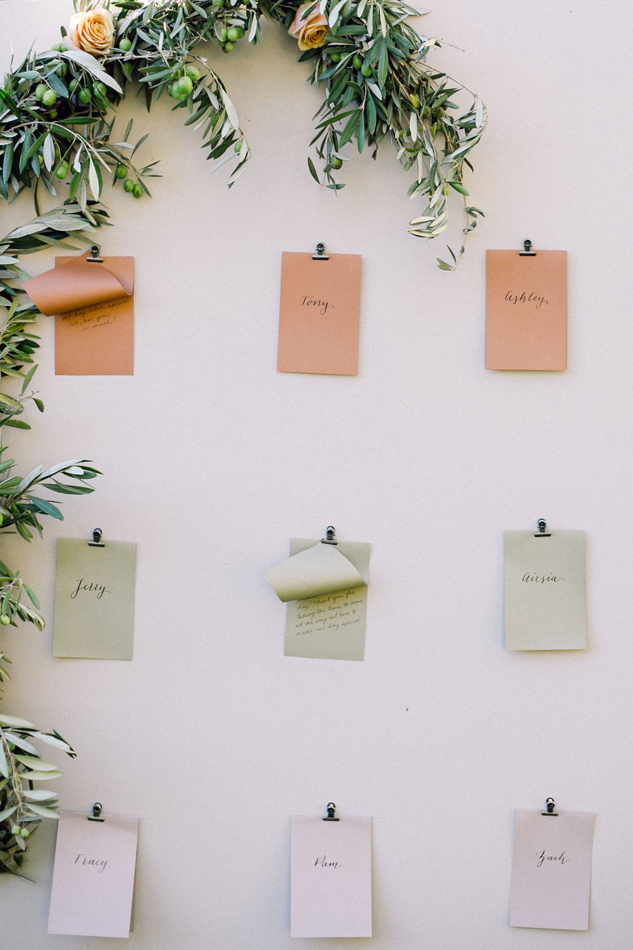 wedding letters hanging on wall
