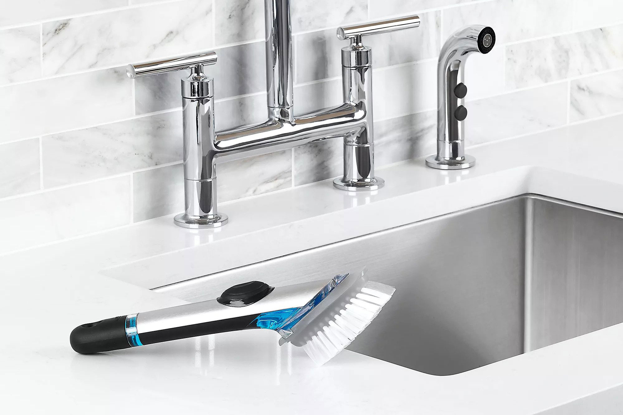 OXO Steel Soap Squirting Brush
