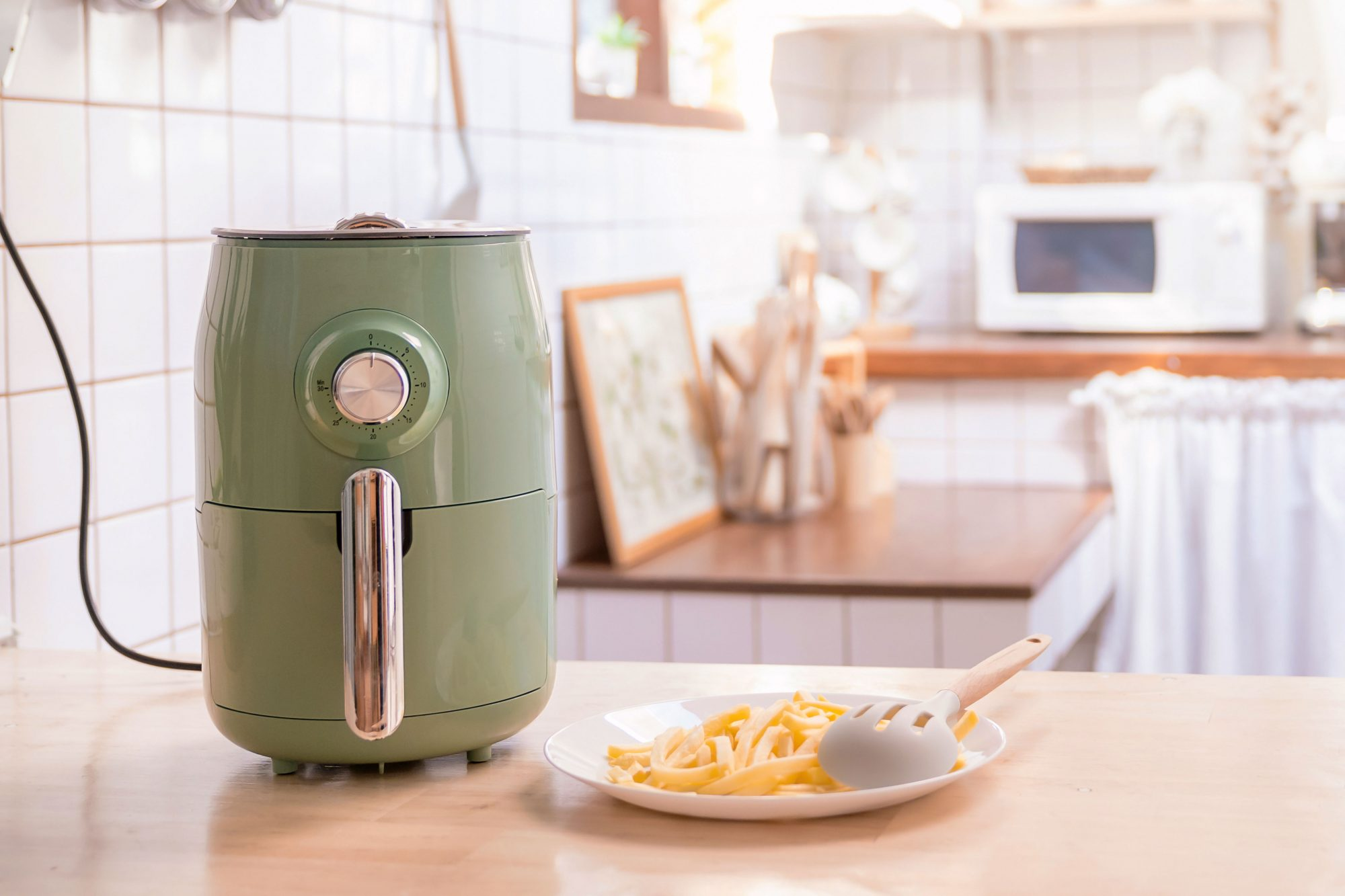 air fryer on kitchen counter