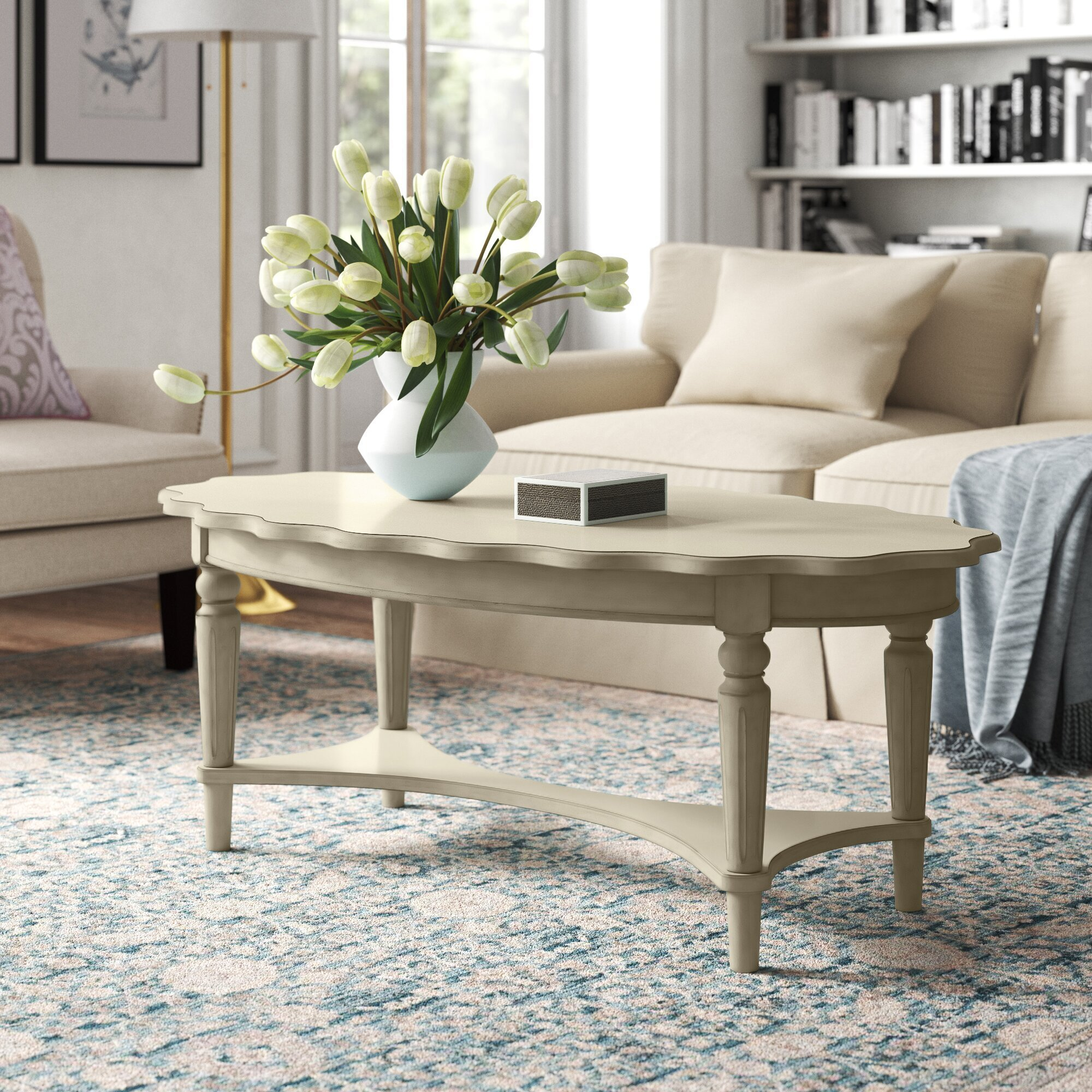 Kelly Clarkson Home Solid Wood Coffee Table with Storage
