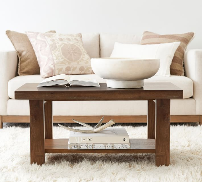 Pottery Barn Reed Coffee Table
