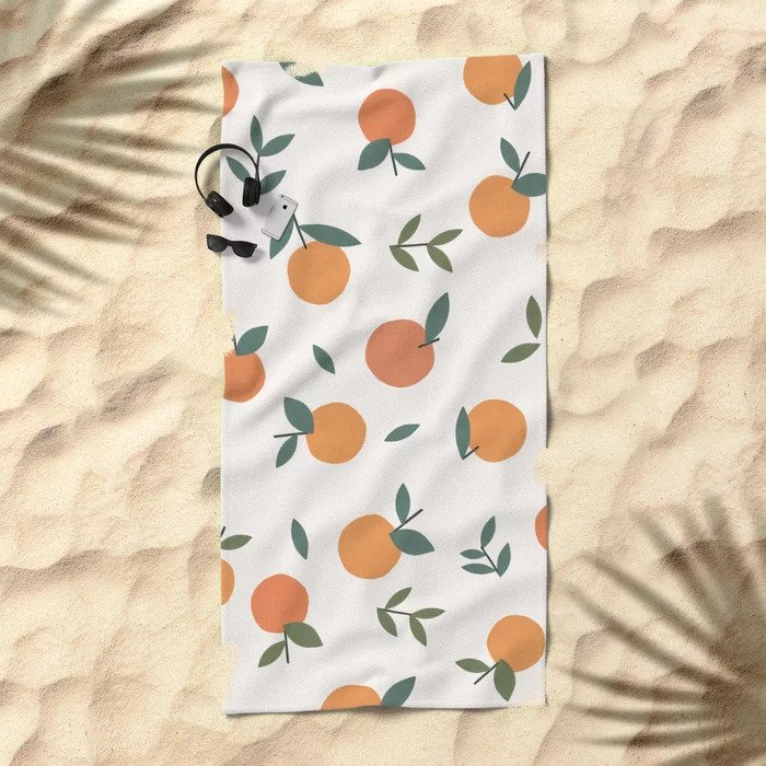 Society6 Clementines Beach Towel