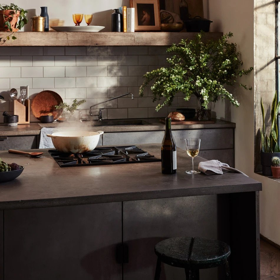 modern kitchen wtih curated products from Material