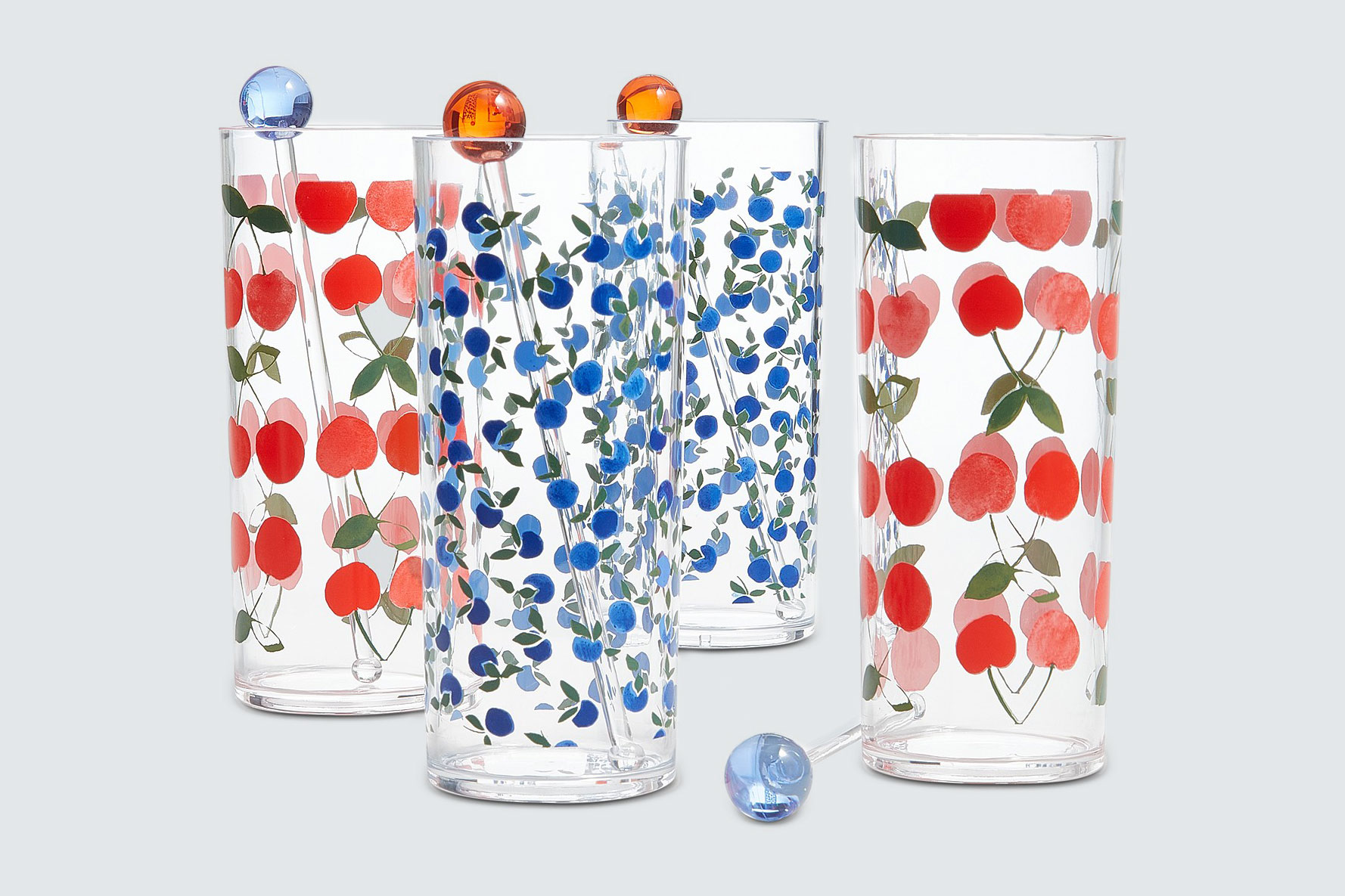 Martha Stewart Collection Berry Acrylic Tom Collins Glasses