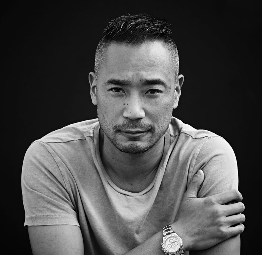 black and white portrait of cliff fong