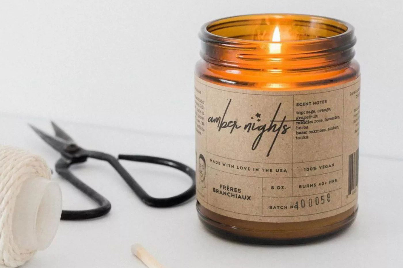 Freres Branchiaux Amber Nights Candle