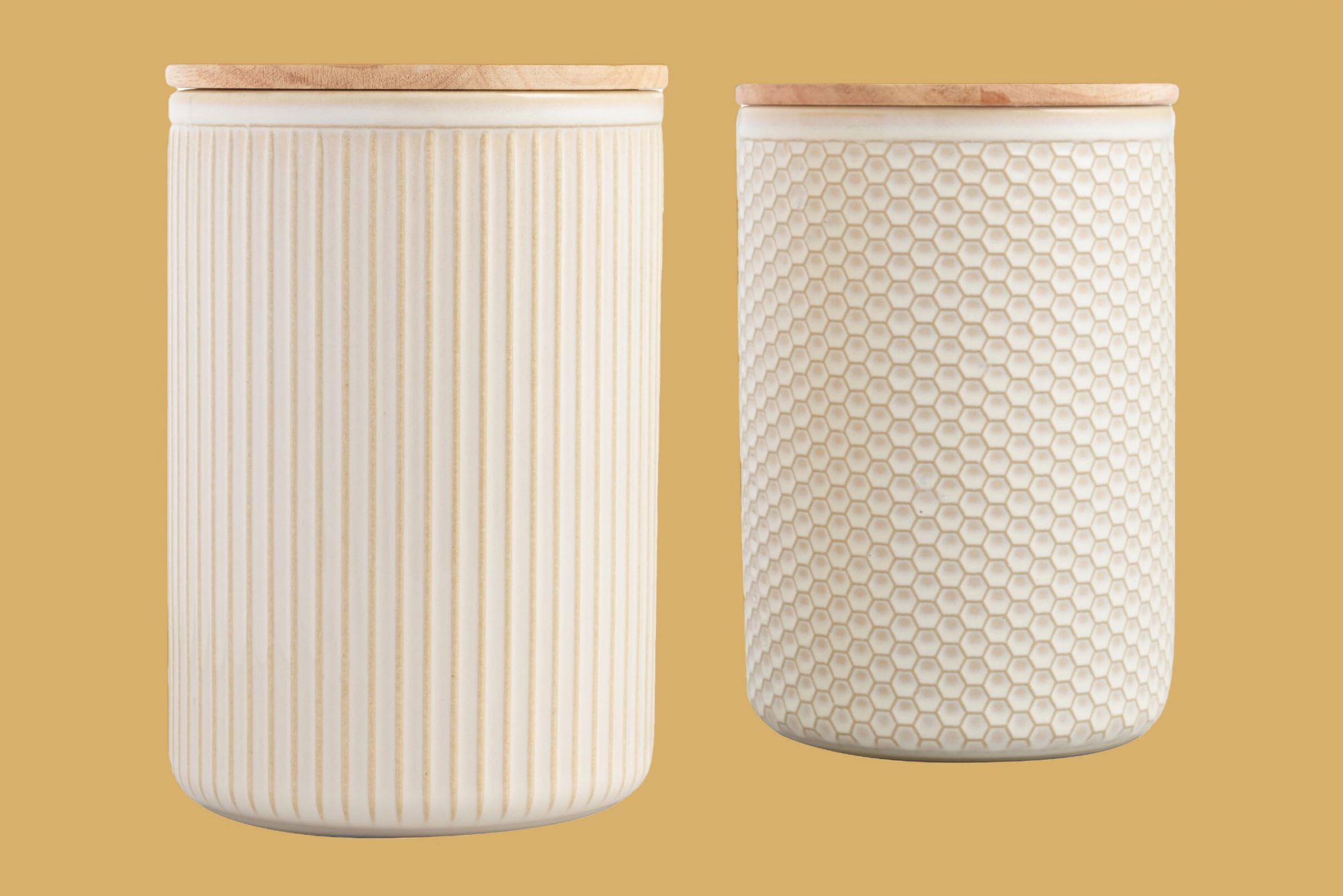 Large Textured Ceramic Canisters
