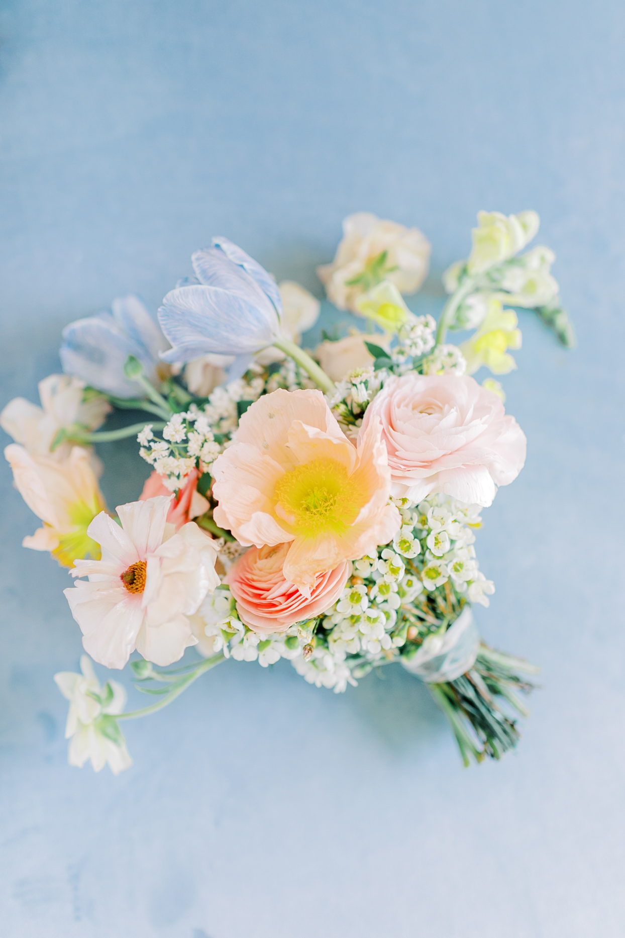 spring hues floral wedding bouquet