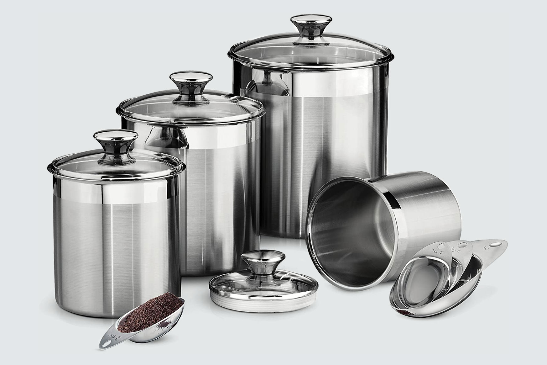 Tramontina Covered Canister and Lid Set