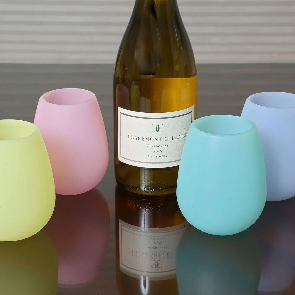 Overstock Shatterproof Silicone Stemless Glasses