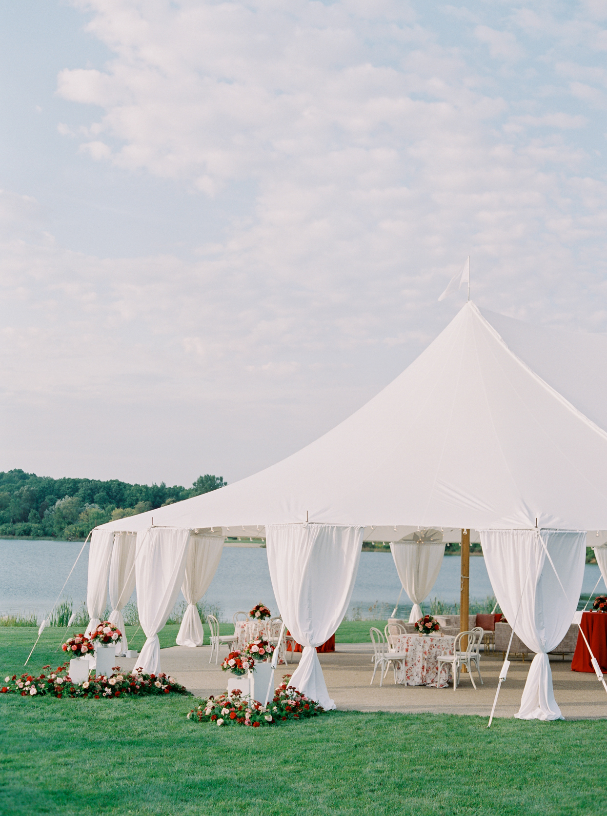 large tent for wedding reception