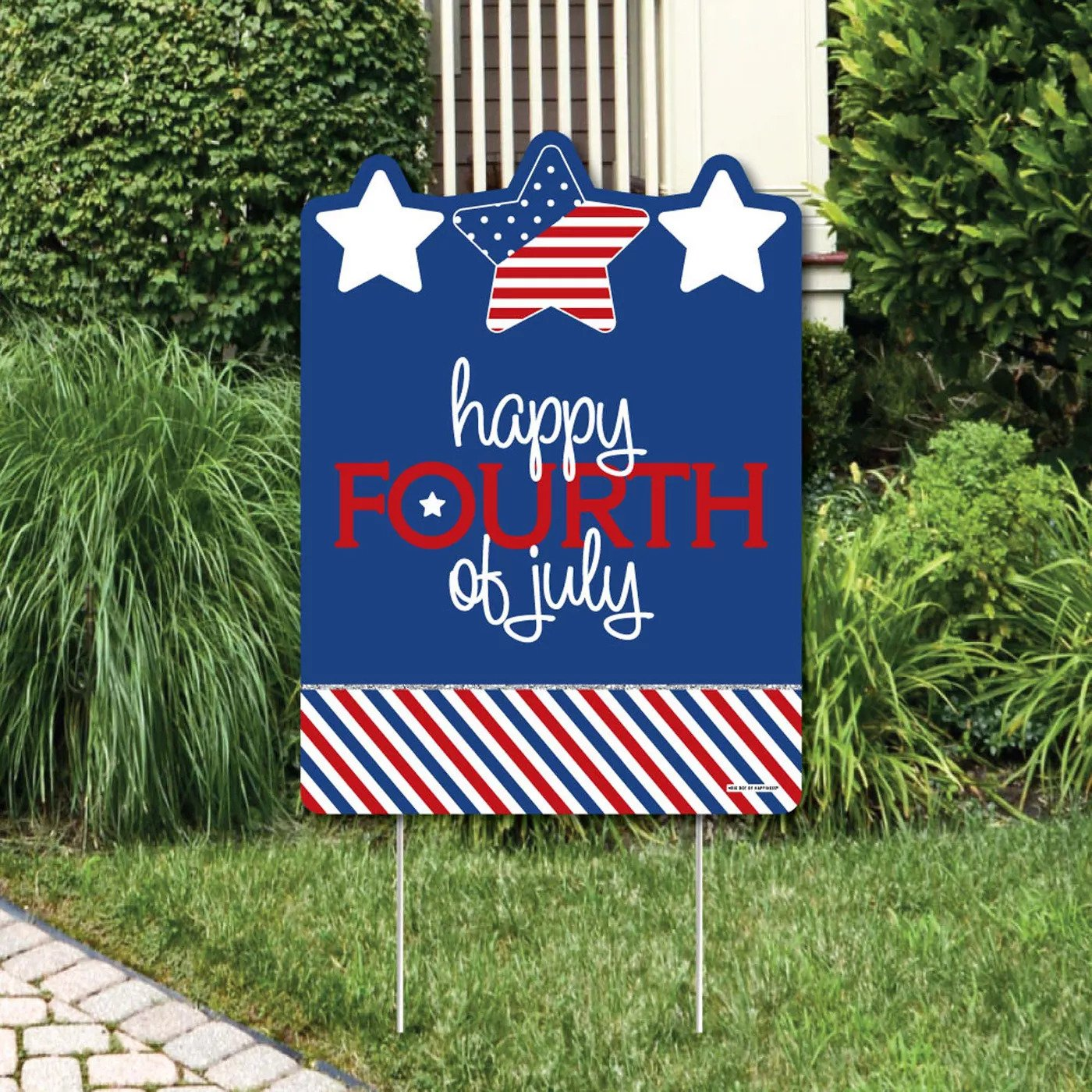 Big Dot of Happiness Happy Fourth of July Yard Sign