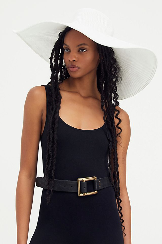 """Free People """"Shaddy Character"""" Hat in White"""