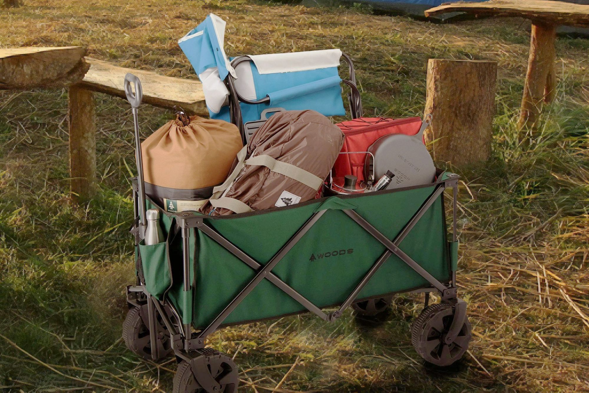 Woods Outdoor Collapsible Utility King Wagon