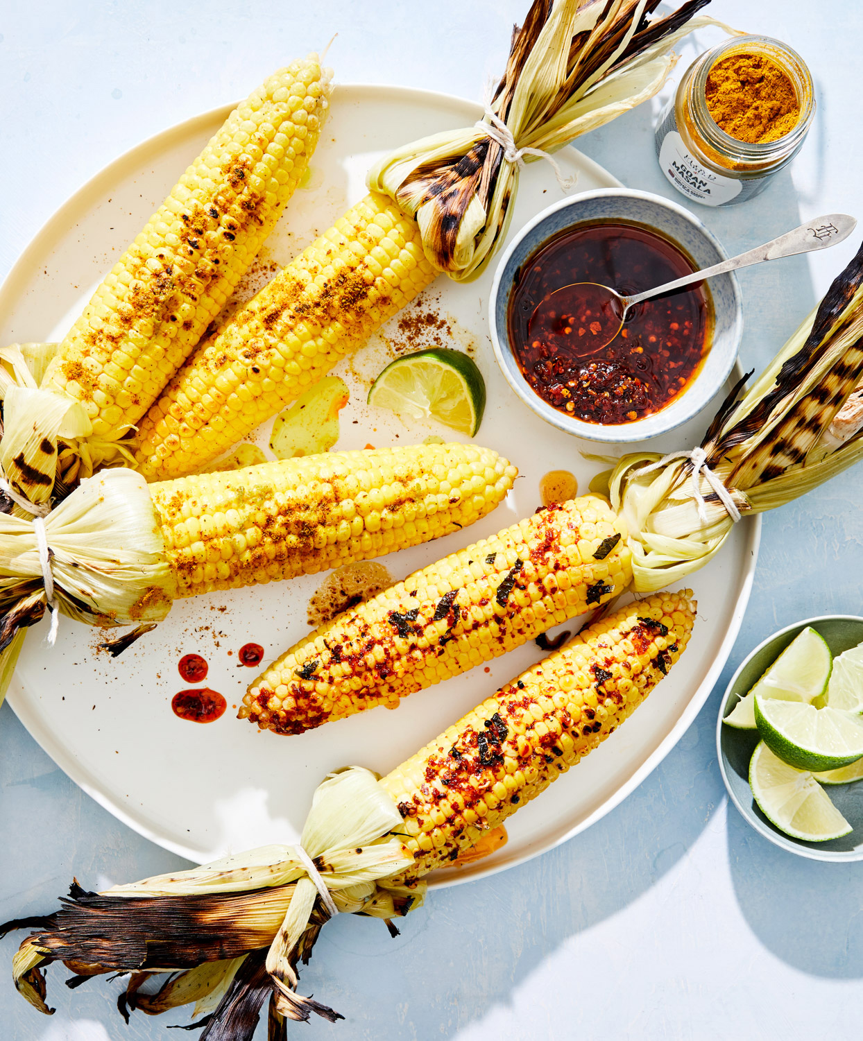 grilled corn on the cob duo