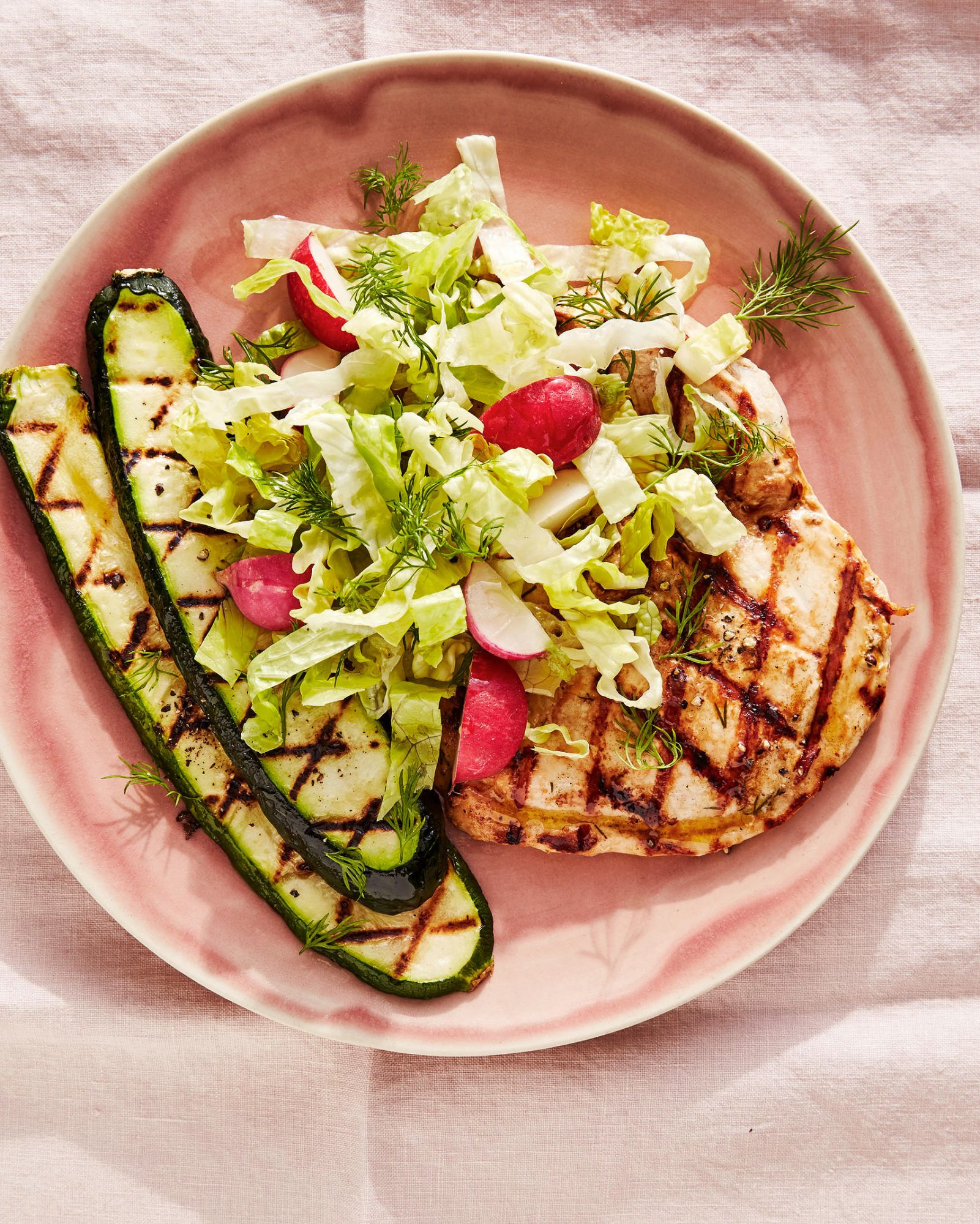 Grilled-Chicken-and-Zucchini Salad