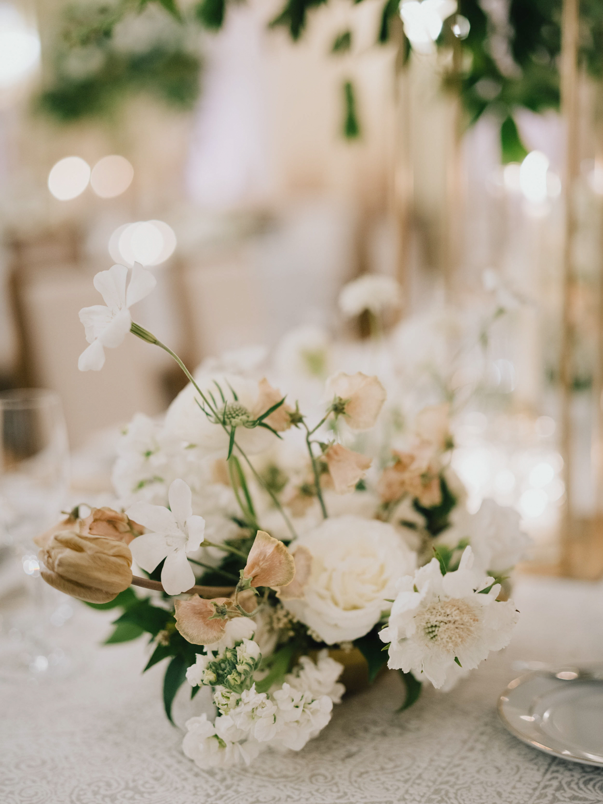 floral centerpieces at wedding