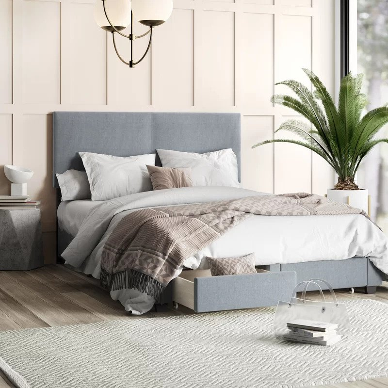 Mercury Row Colwell Upholstered Storage Standard Bed