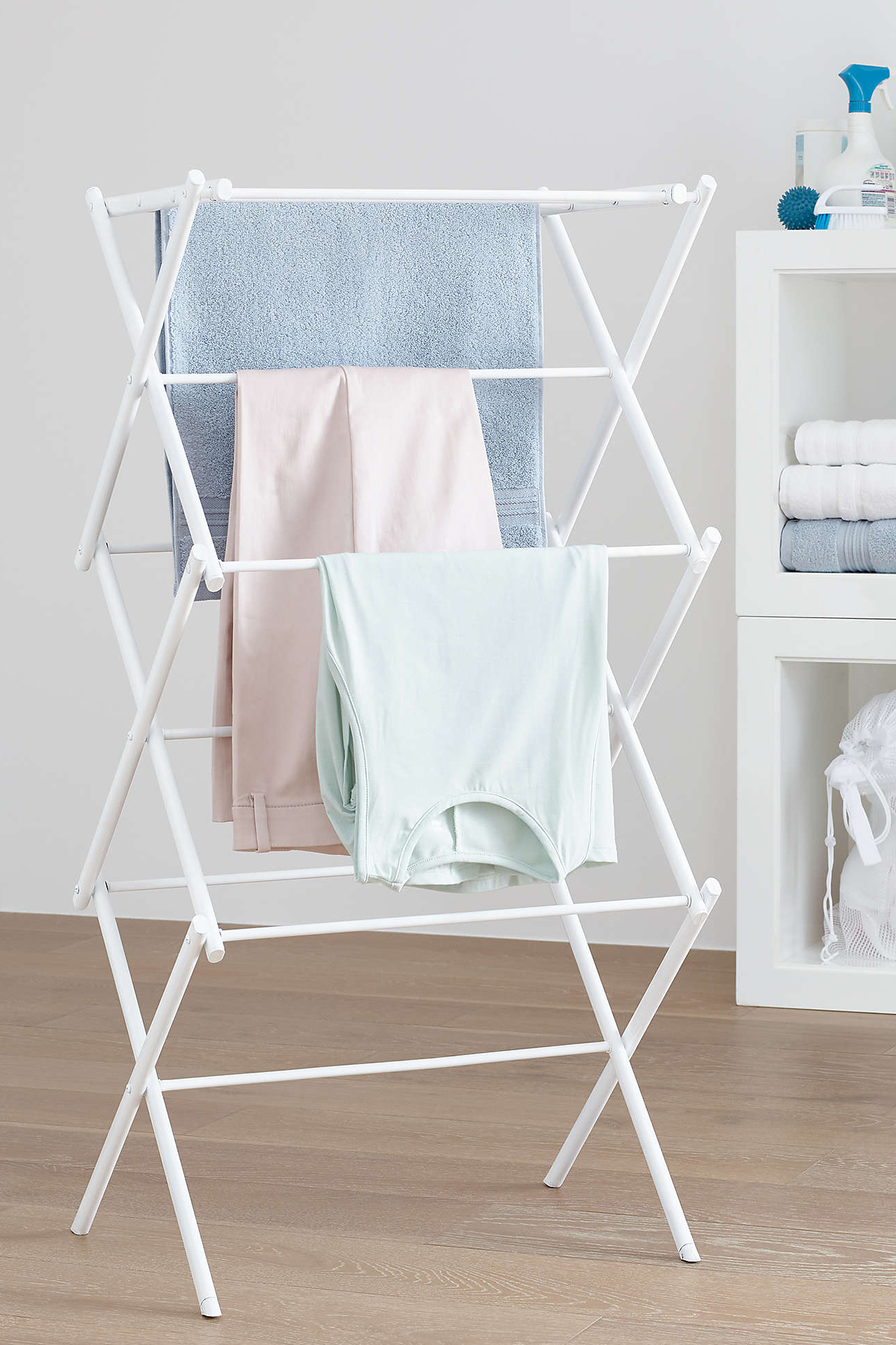 Squared Away Adjustable Wing Arm Laundry Drying Rack