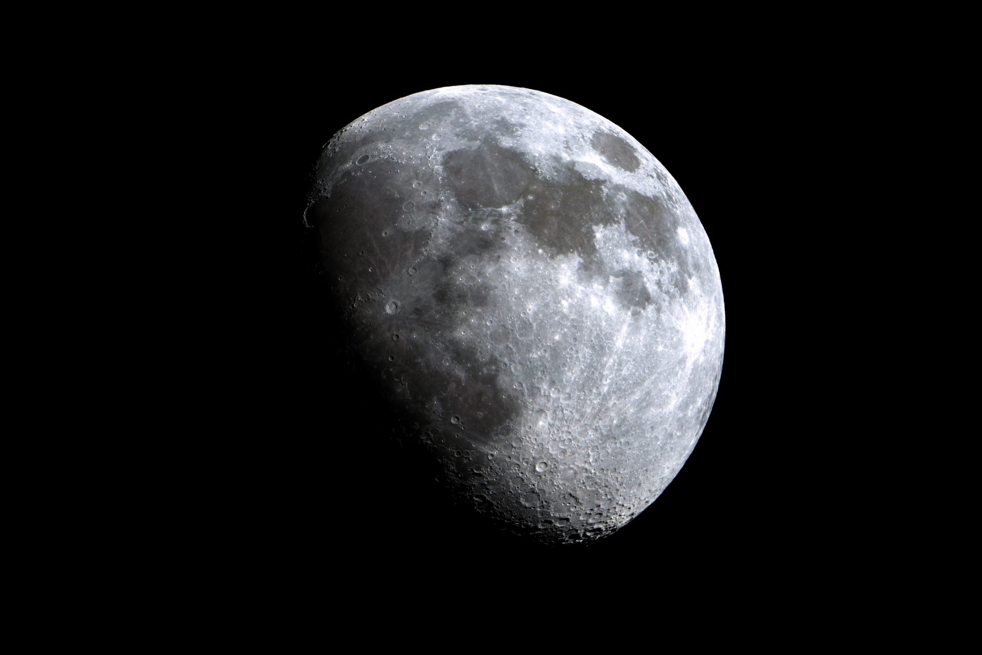 view of clear moon night sky