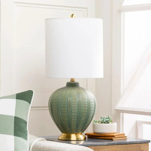 Jungalow Rey Green Table Lamp
