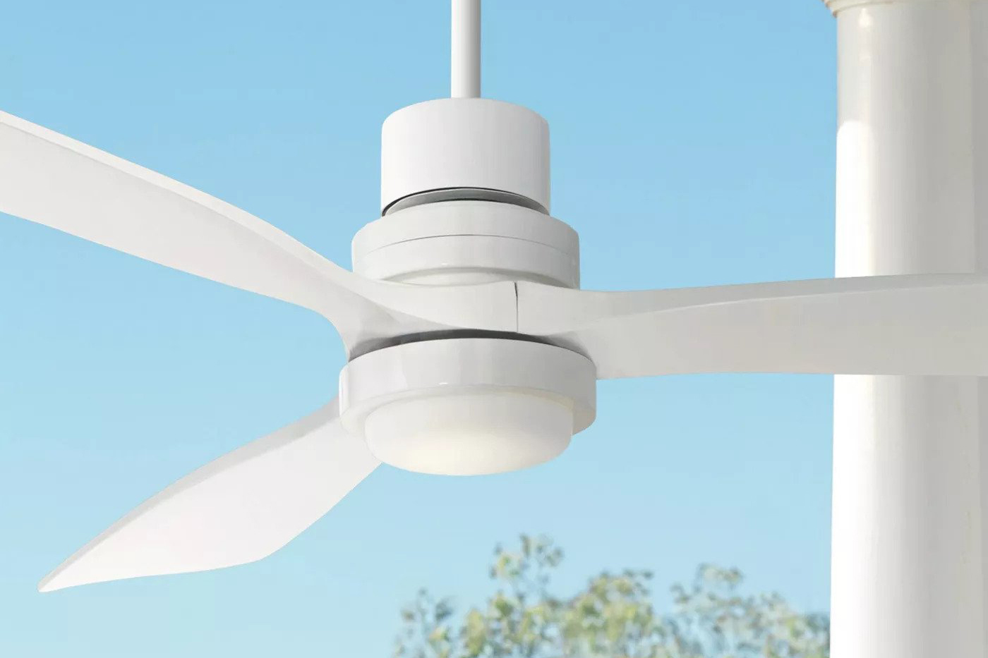 Casa Vieja Damp Rated Outdoor Ceiling Fan with LED Light