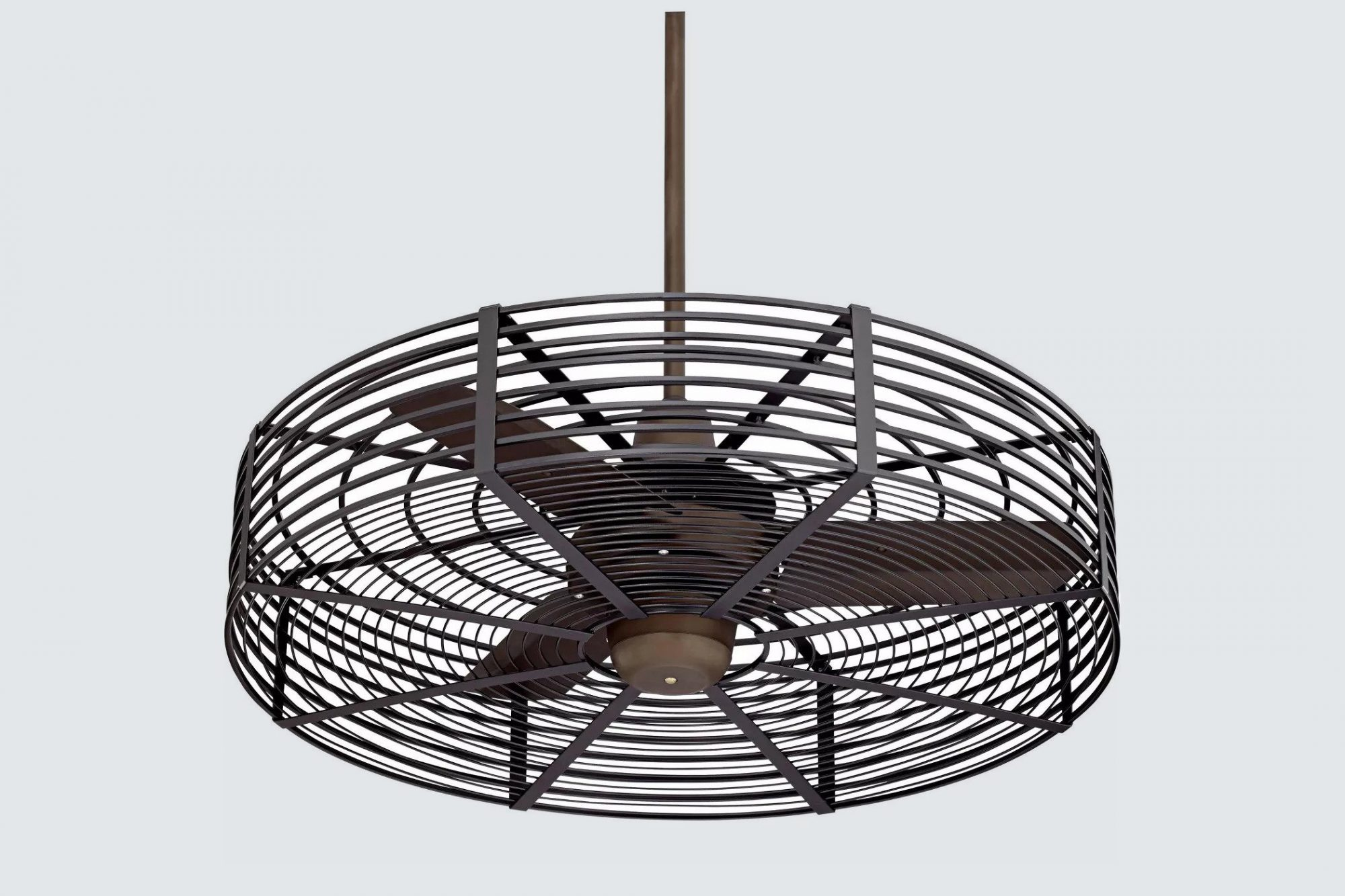 Casa Vieja Damp Rated Industrial Cage Outdoor Ceiling Fan