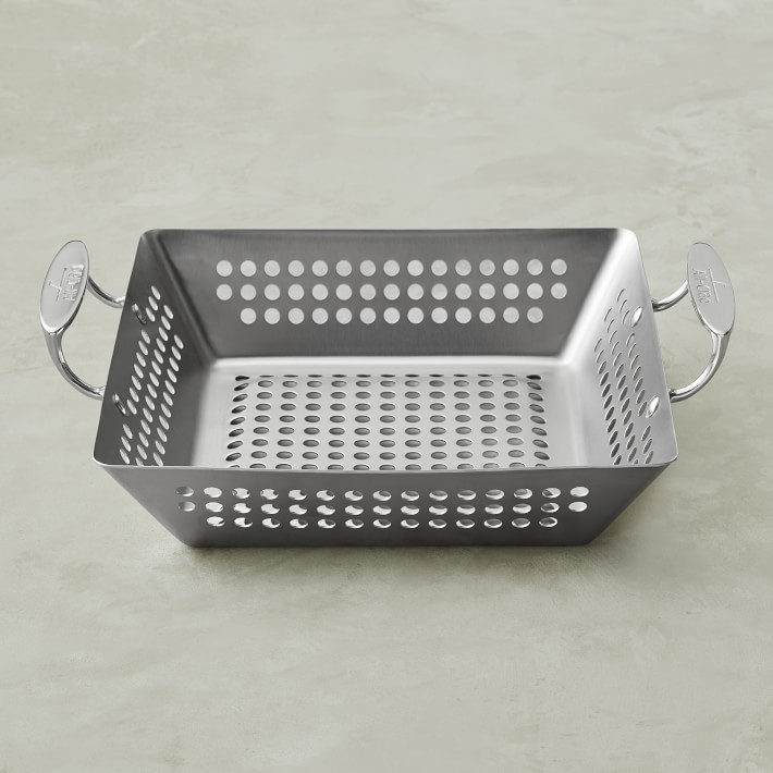 All-Clad Stainless Steel Outdoor Square Grilling Basket