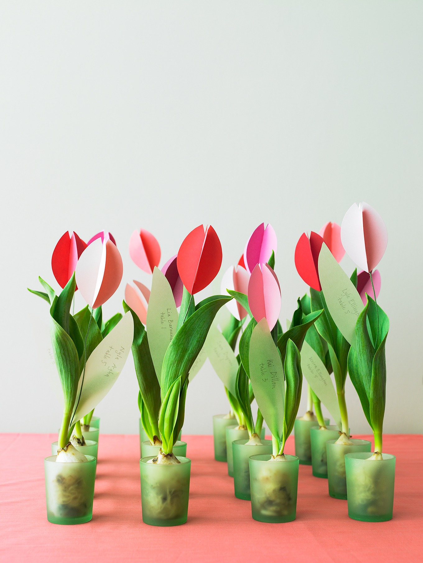 paper tulips favors