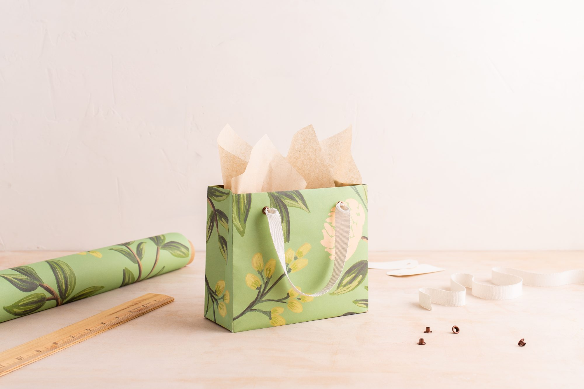 custom wrapping paper gift bag