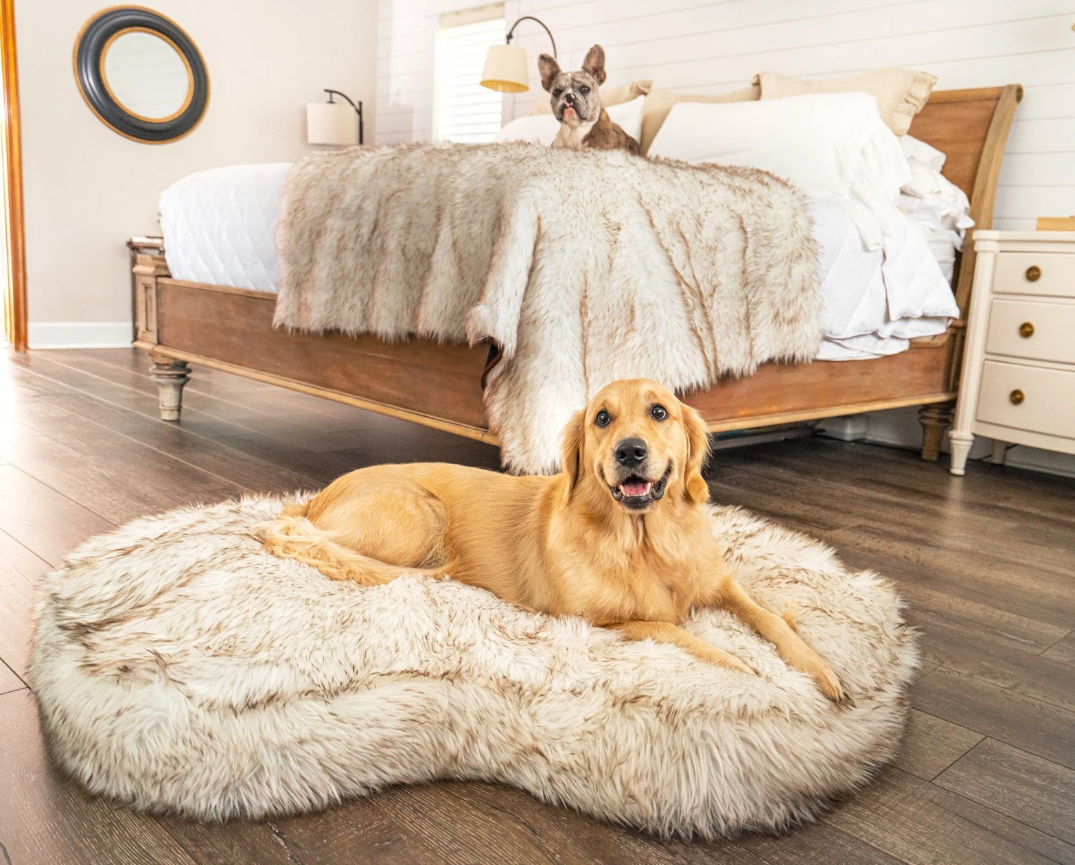 PupCloud Faux Fur Ultra Thick Memory Foam Dog Bed