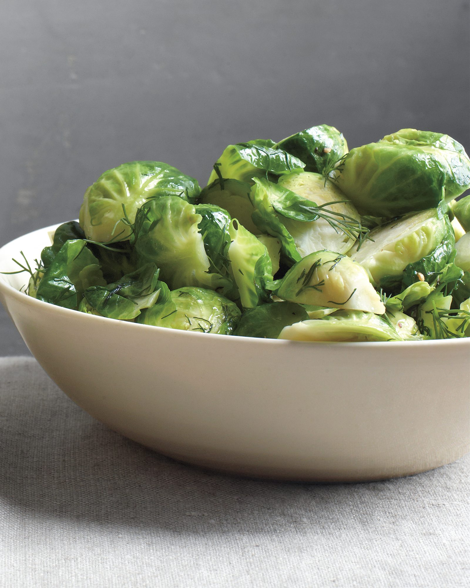 Brussels Sprouts with Dill Butter