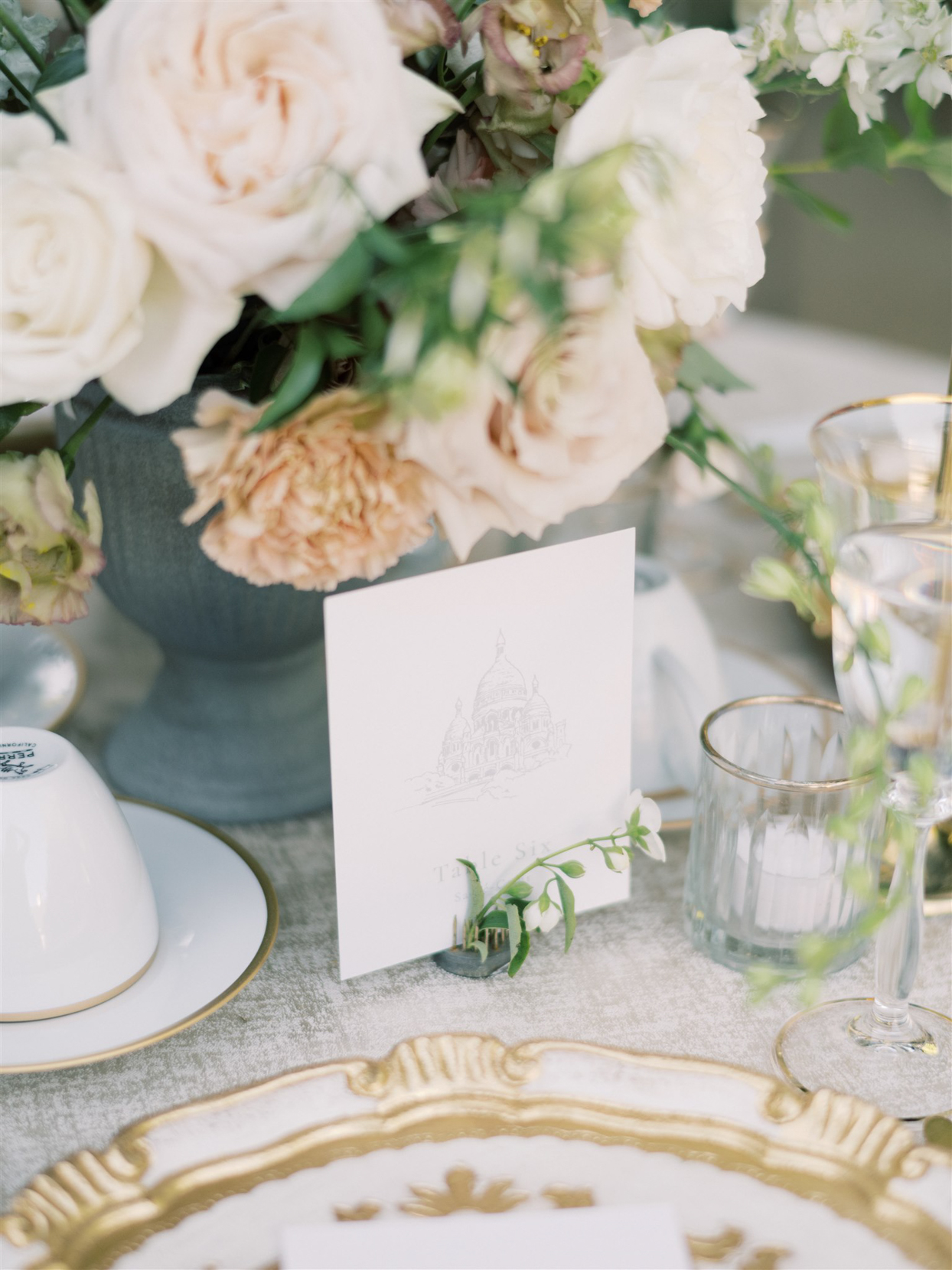 france inspired wedding reception table number cards