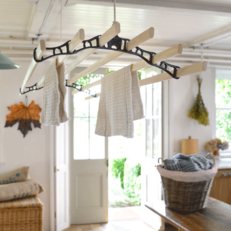 PulleyMaid Deluxe Drying Rack