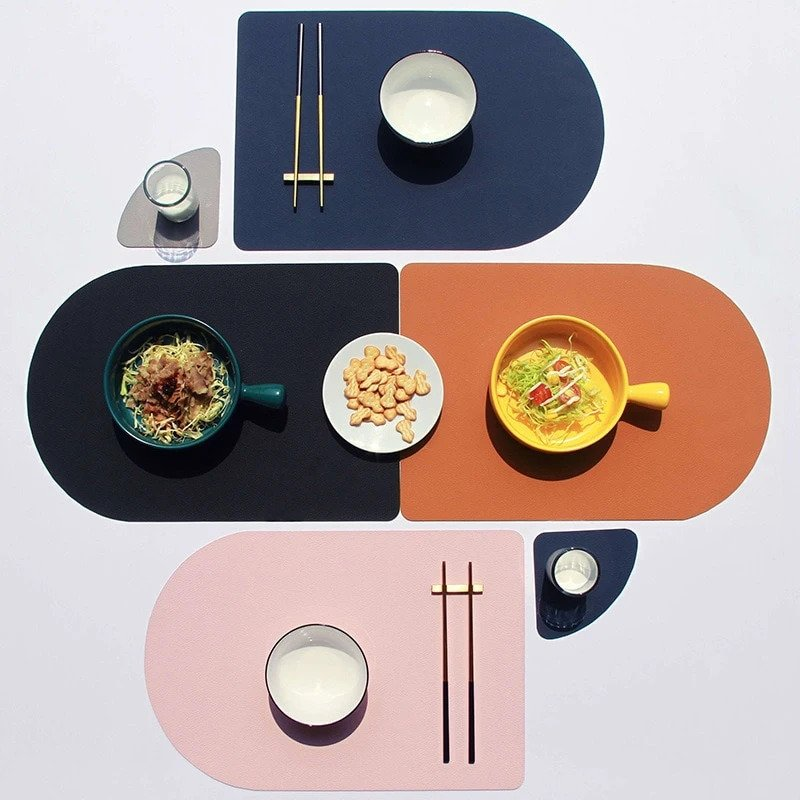 Tableware PU Leather Placemat Set