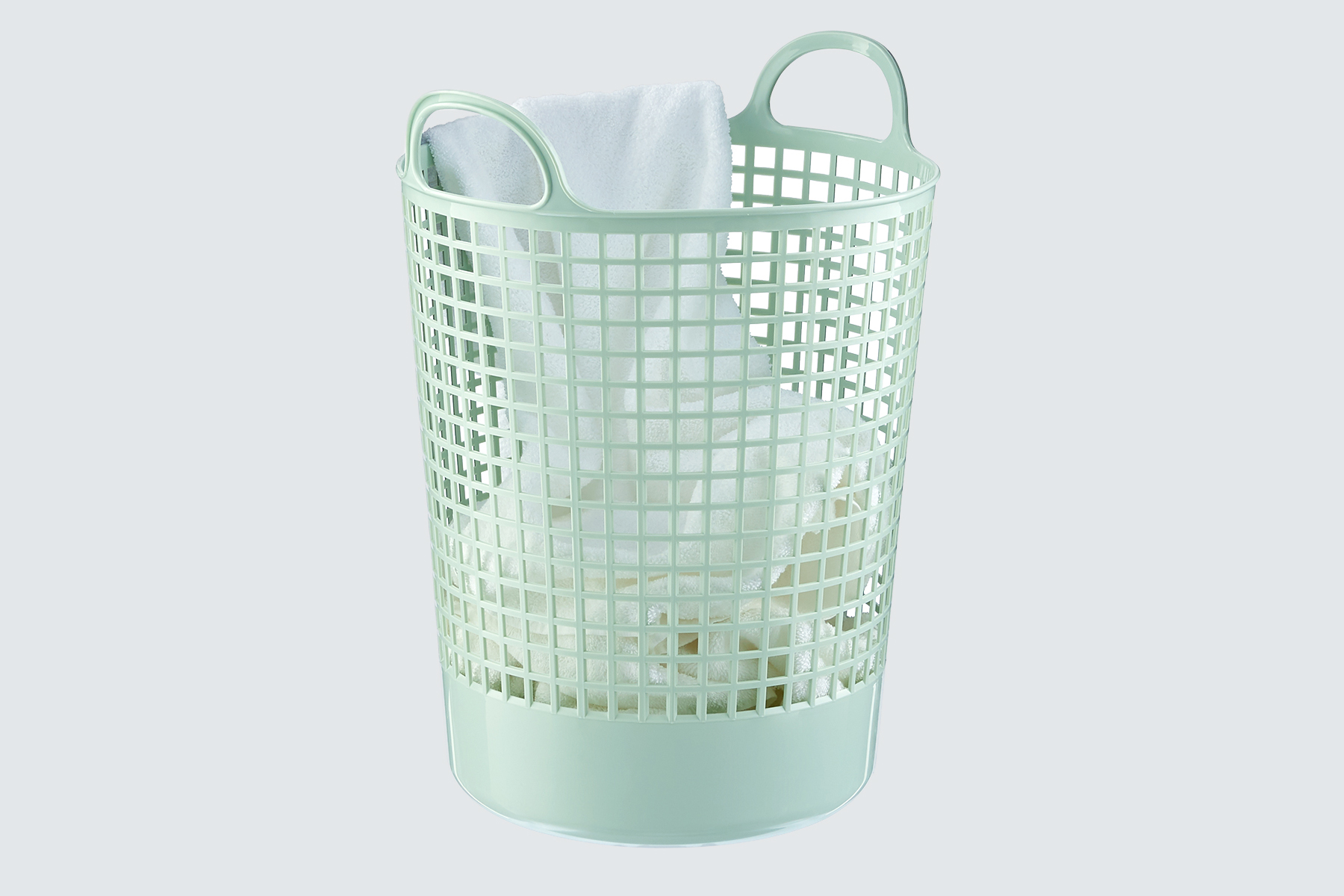 The Container Store Mint Eco-Plastic Laundry Basket