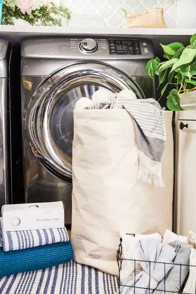 Grove Co. Collapsible Cotton Laundry Bag