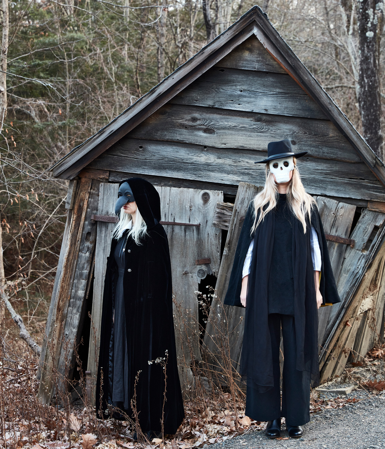 masters of disguise spooky masks and dark cloaks