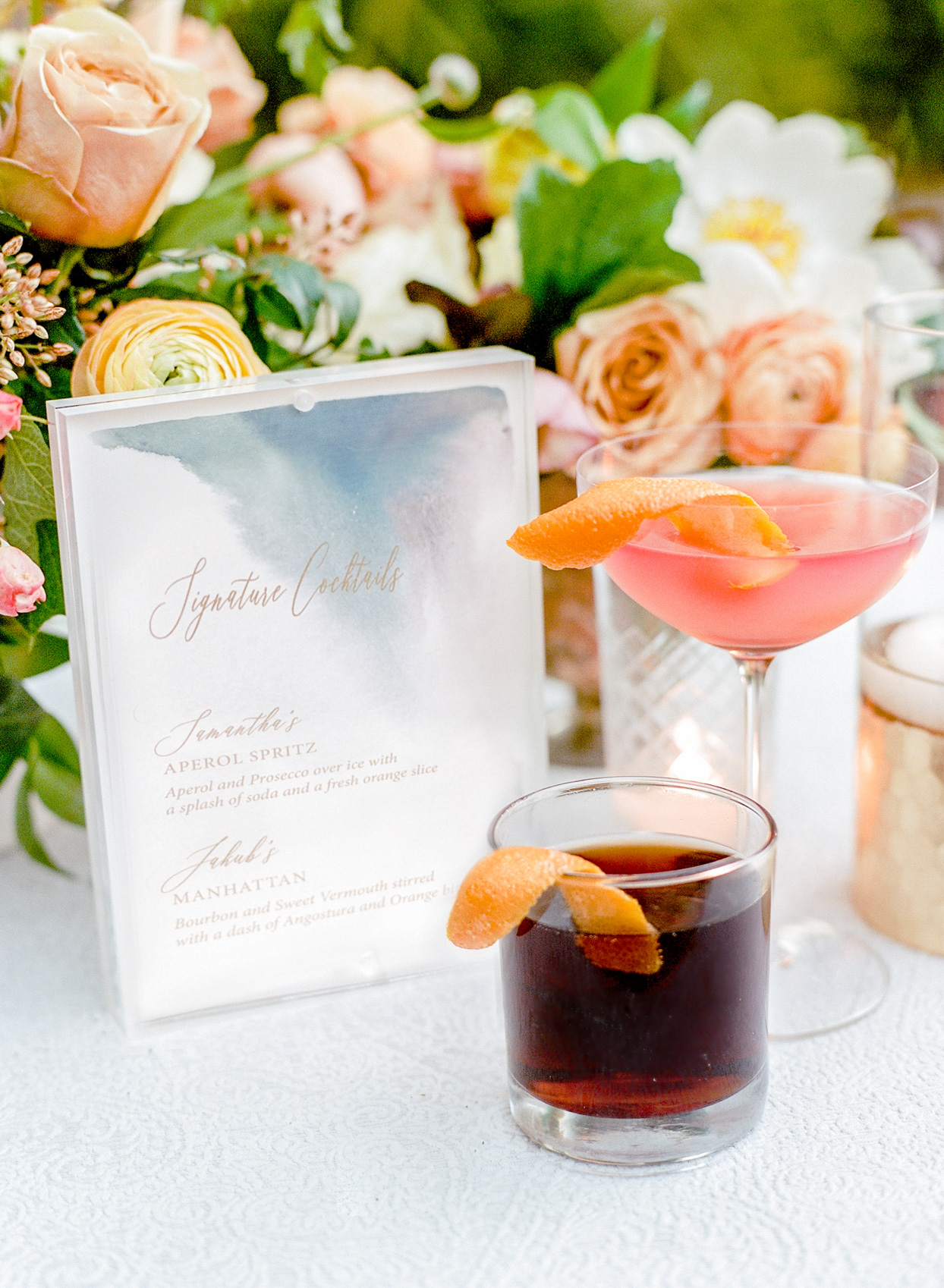 specialty bride and groom cocktails