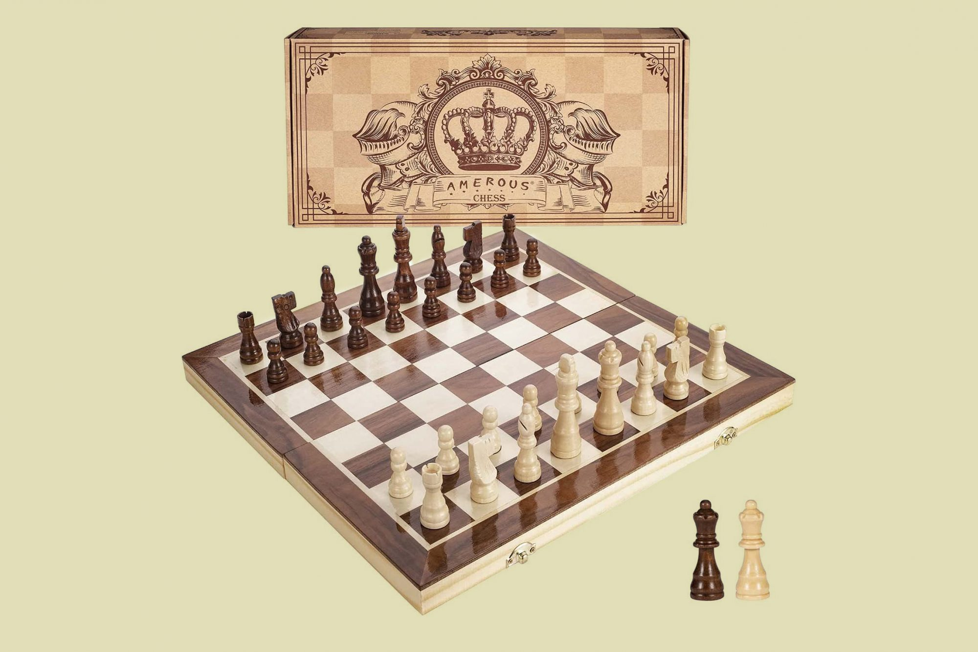 Amerous Magnetic Wooden Chess Set