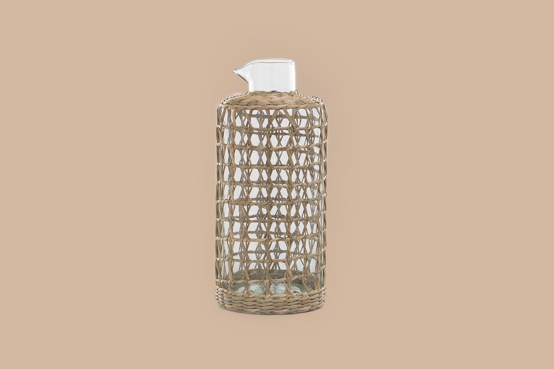 Amber Interiors Seagrass Cage Carafe