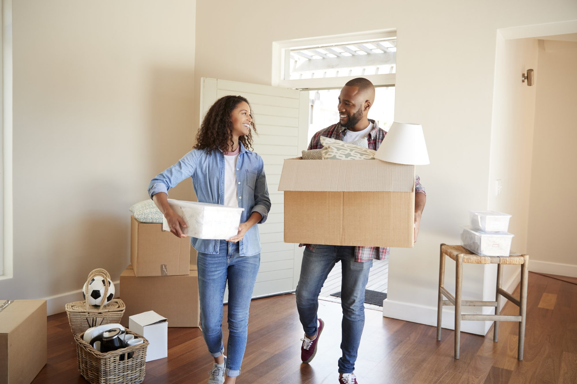 couple moving in to home
